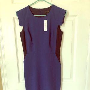 J crew size 2 resume sheath color block dress NWT